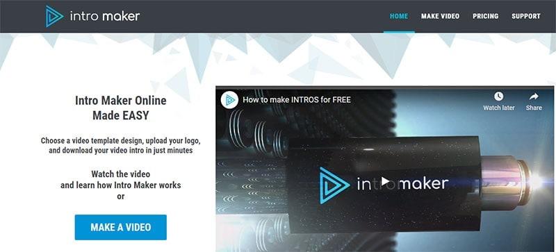 youtube intro maker free no watermark