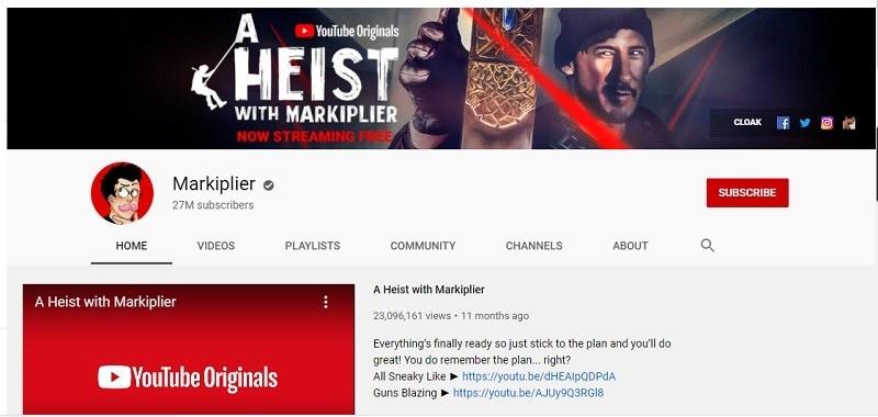 qui est le joueur le plus populaire sur youtube