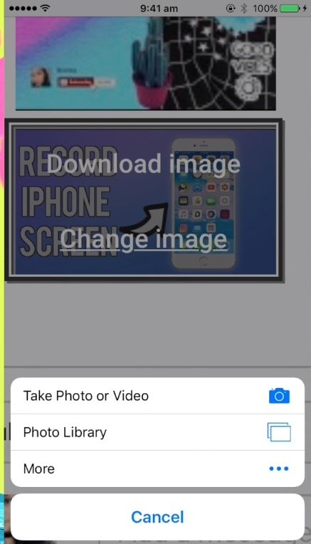 how to add thumbnail to youtube live stream