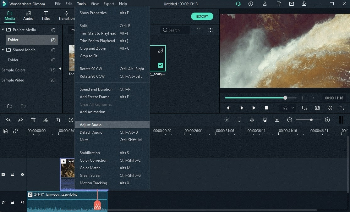 select audio