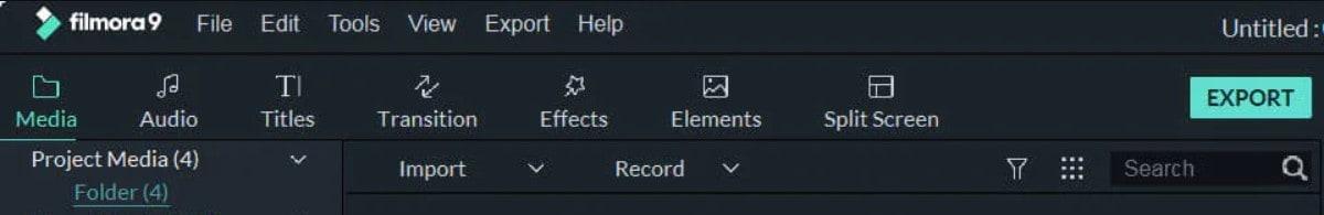 import video on filmora