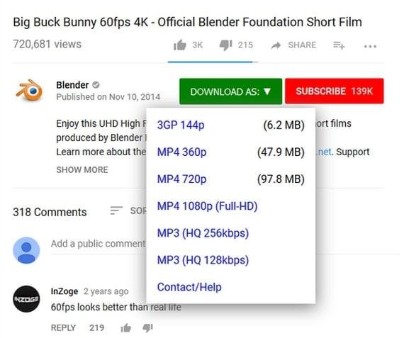 Herunterladen von Youtube-Videos ohne jegliche Software in Firefox
