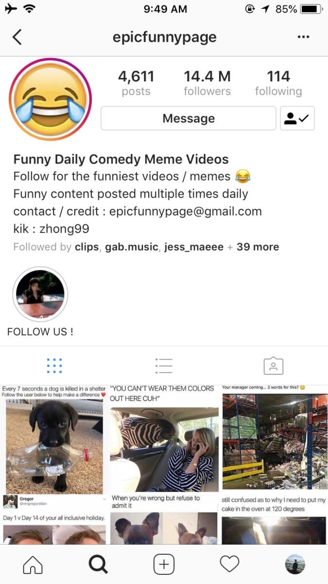 best instagram meme pages