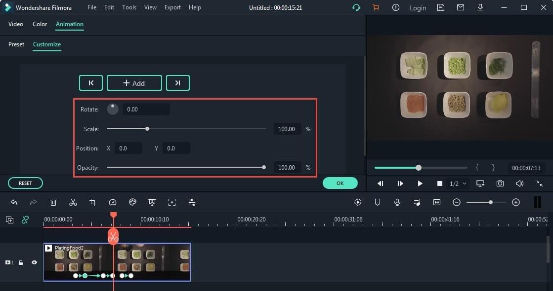 edit or delete preset animation