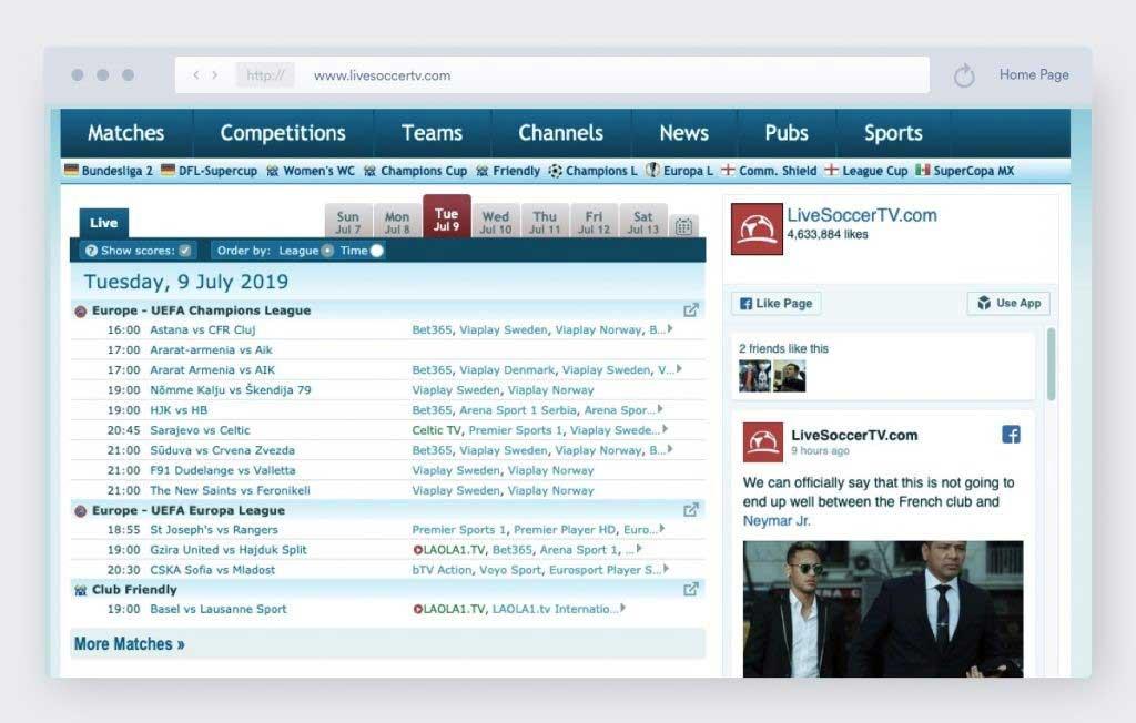 sites de streaming sportifs gratuits en direct