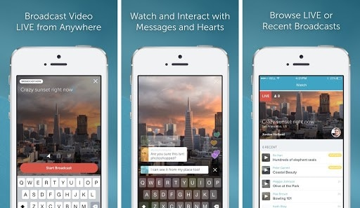 live streaming app for iphone