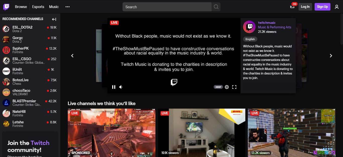 go live on twitch