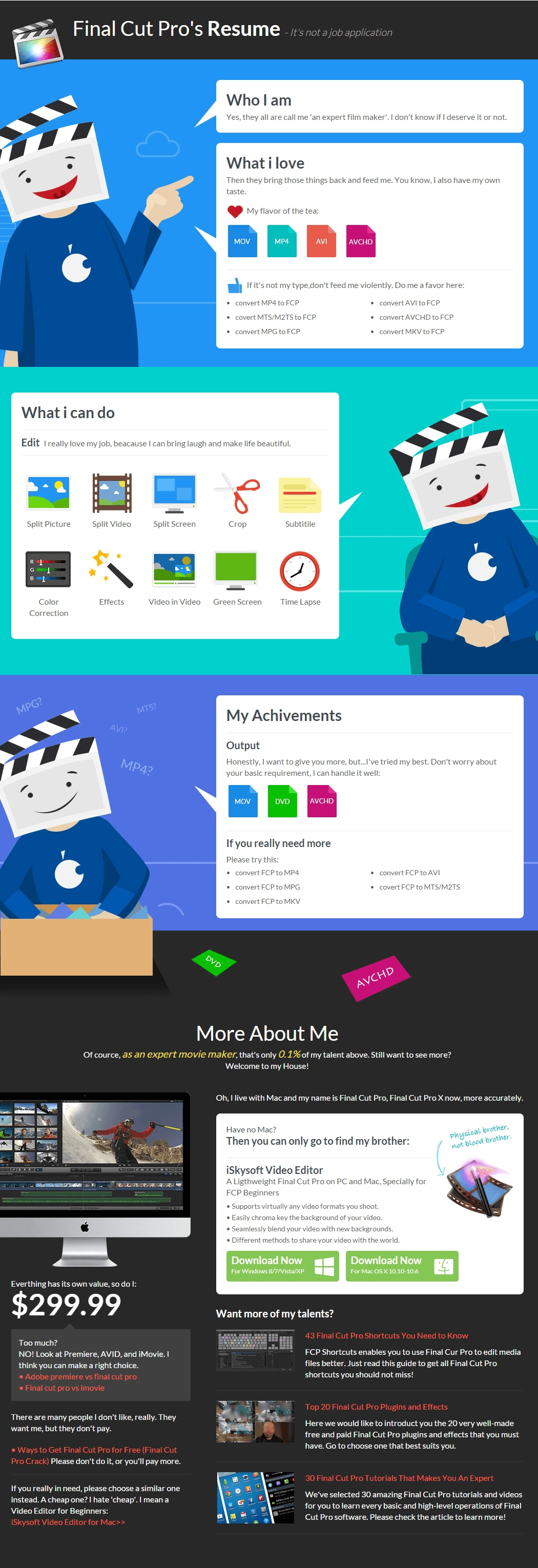 Infographic] Final Cut Pro's Resume - It's not a job application