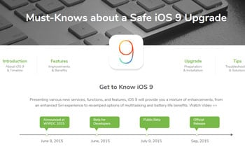 Must-Knows about a Safe iOS 9 Upgrade