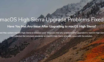 macOS High Sierra Upgrade Problems