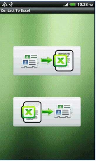 how to export contacts to excel