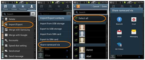 how to transfer contacts to another phone