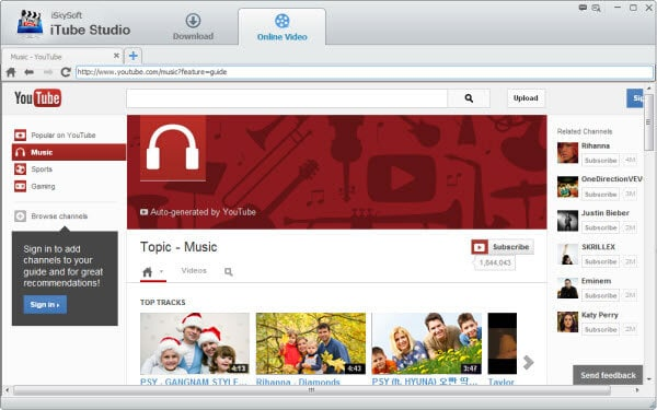 launch iskysoft youtube music downloader