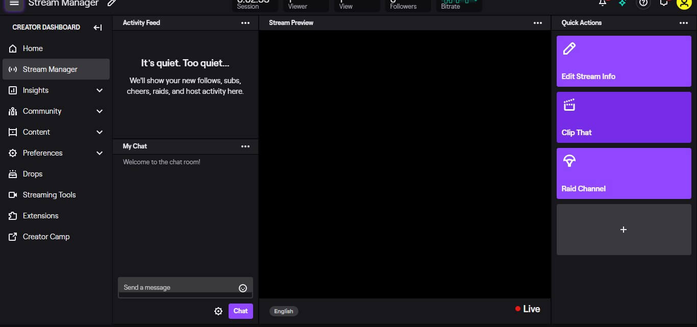 how do you Livestream on Twitch