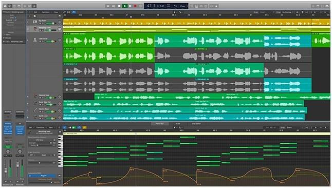 logiciel de mixage de musique logic pro x