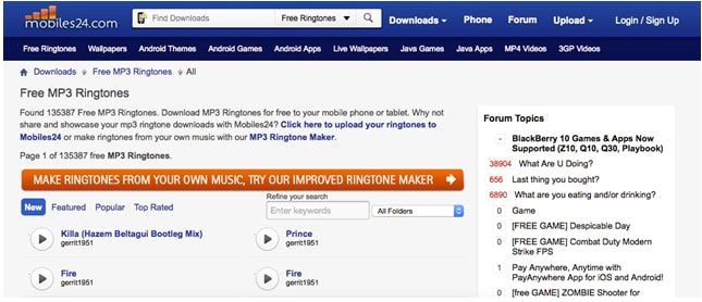 4 best place to download ringtone on android phone the - Mobiles24 com ...