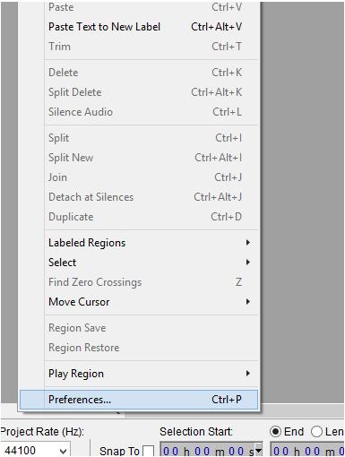 how to cut audio in audacity mac