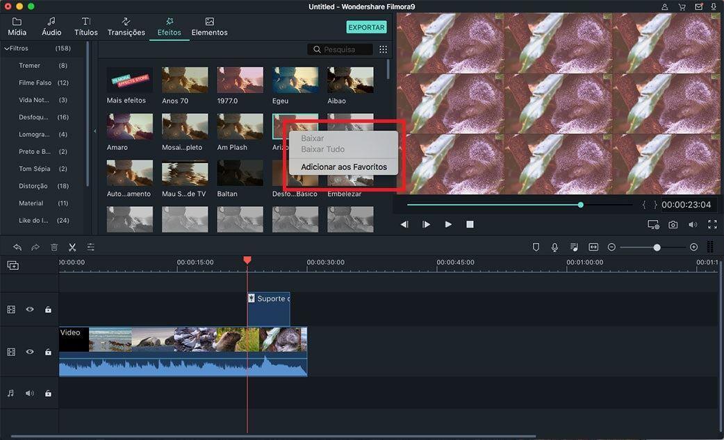 editor de vídeo com efeitos