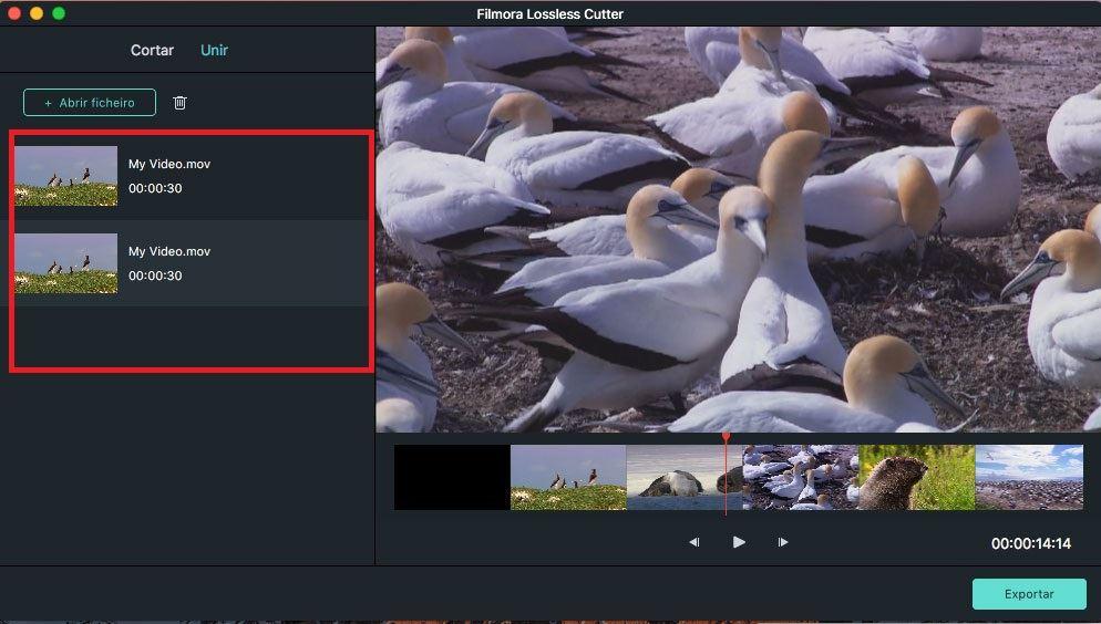 gravar clipes de vídeo