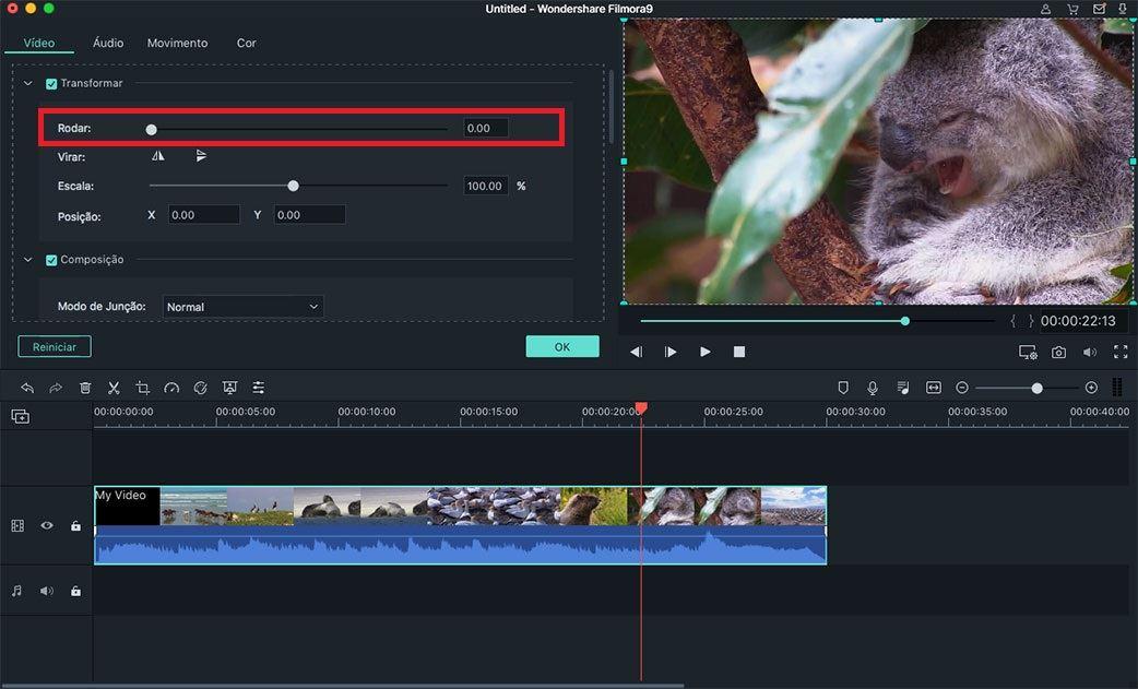 falha ao editar vídeos no mac os x 10.11