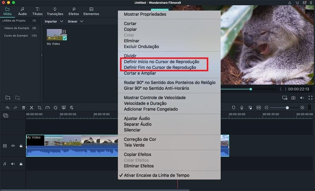 falhas de edição de vídeo no mac os x el capitan