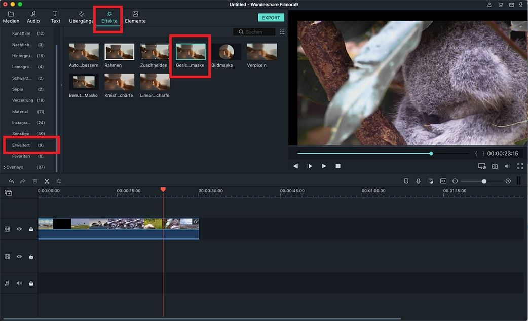 video mit effekten am mac bearbeiten