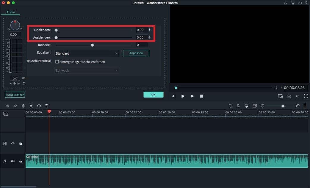 einblenden ausblenden audio