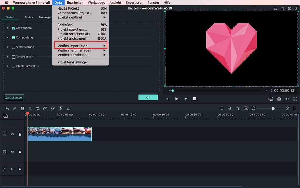 gopro video hinzufügen