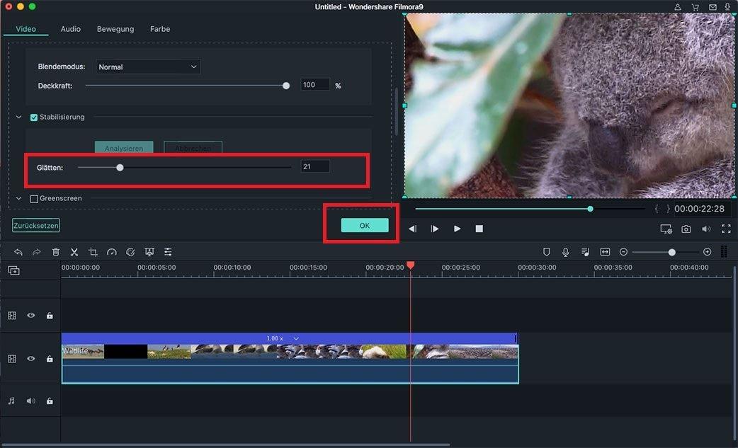 video stabilisierung