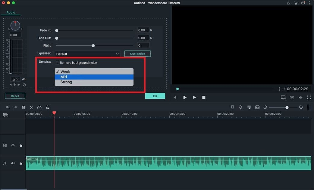 remove background noise from audio using audio editor mac