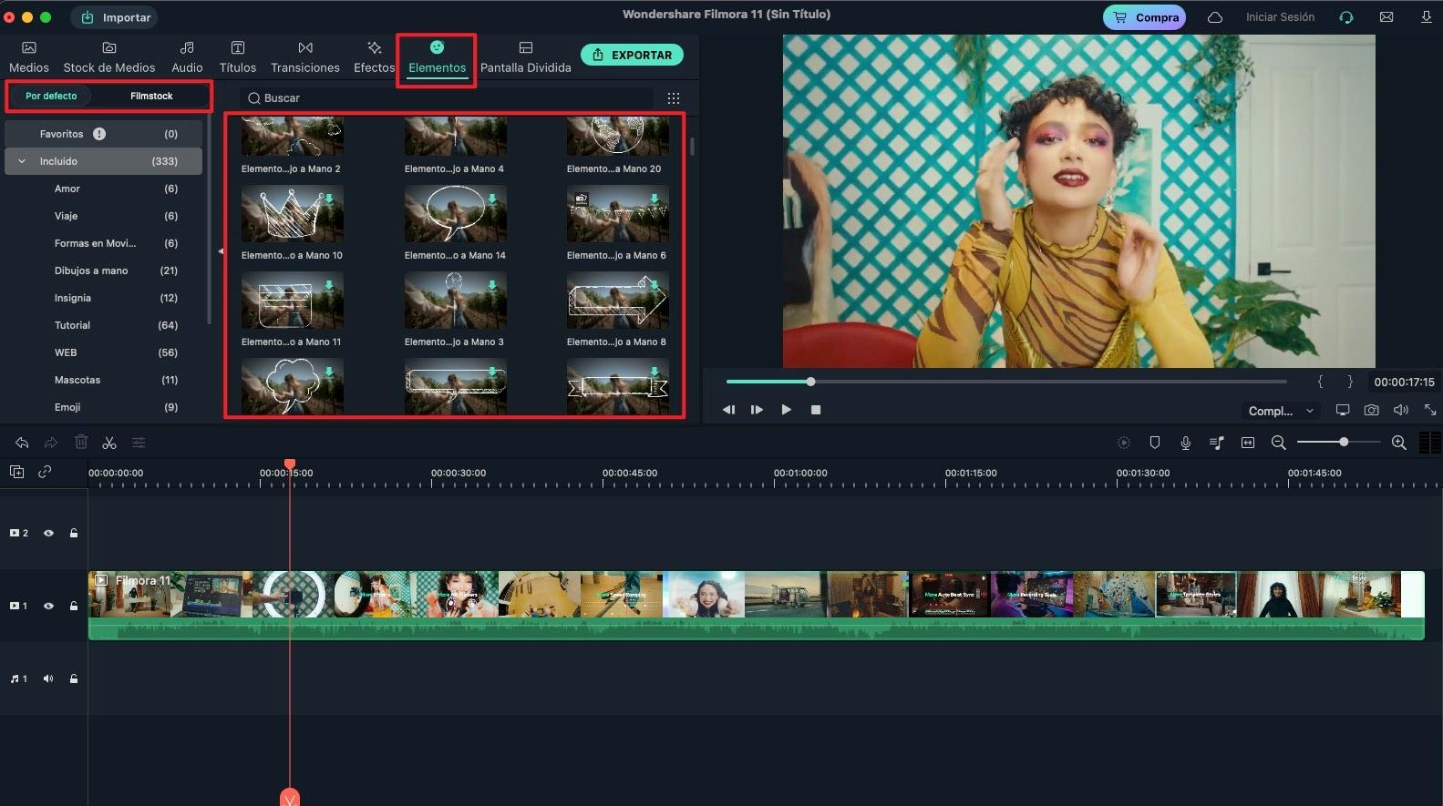 agregar elementos al video