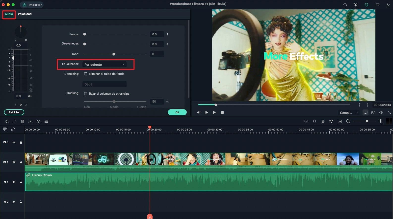 ecualizar pista de audio
