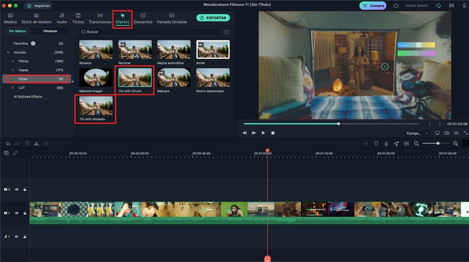efecto especial para un video