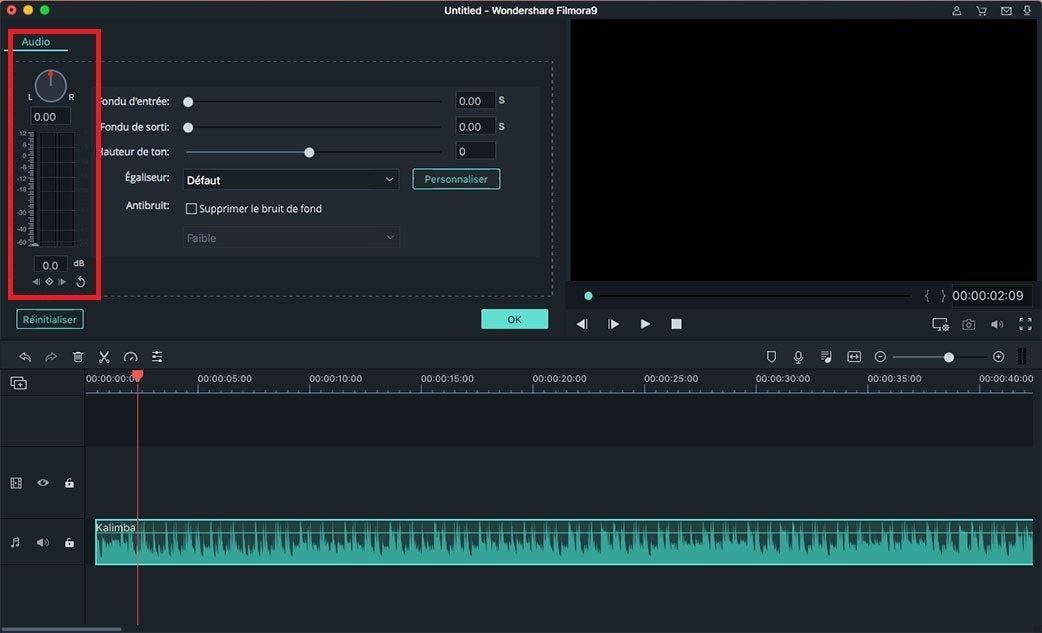 ajuster le volume audio