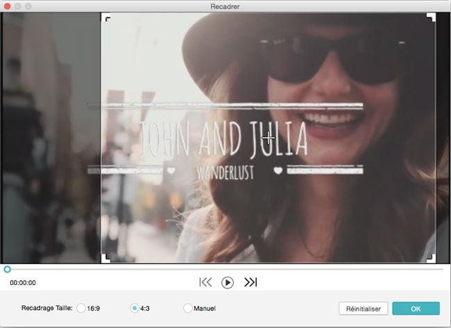 recadrer la vidéo dans mac