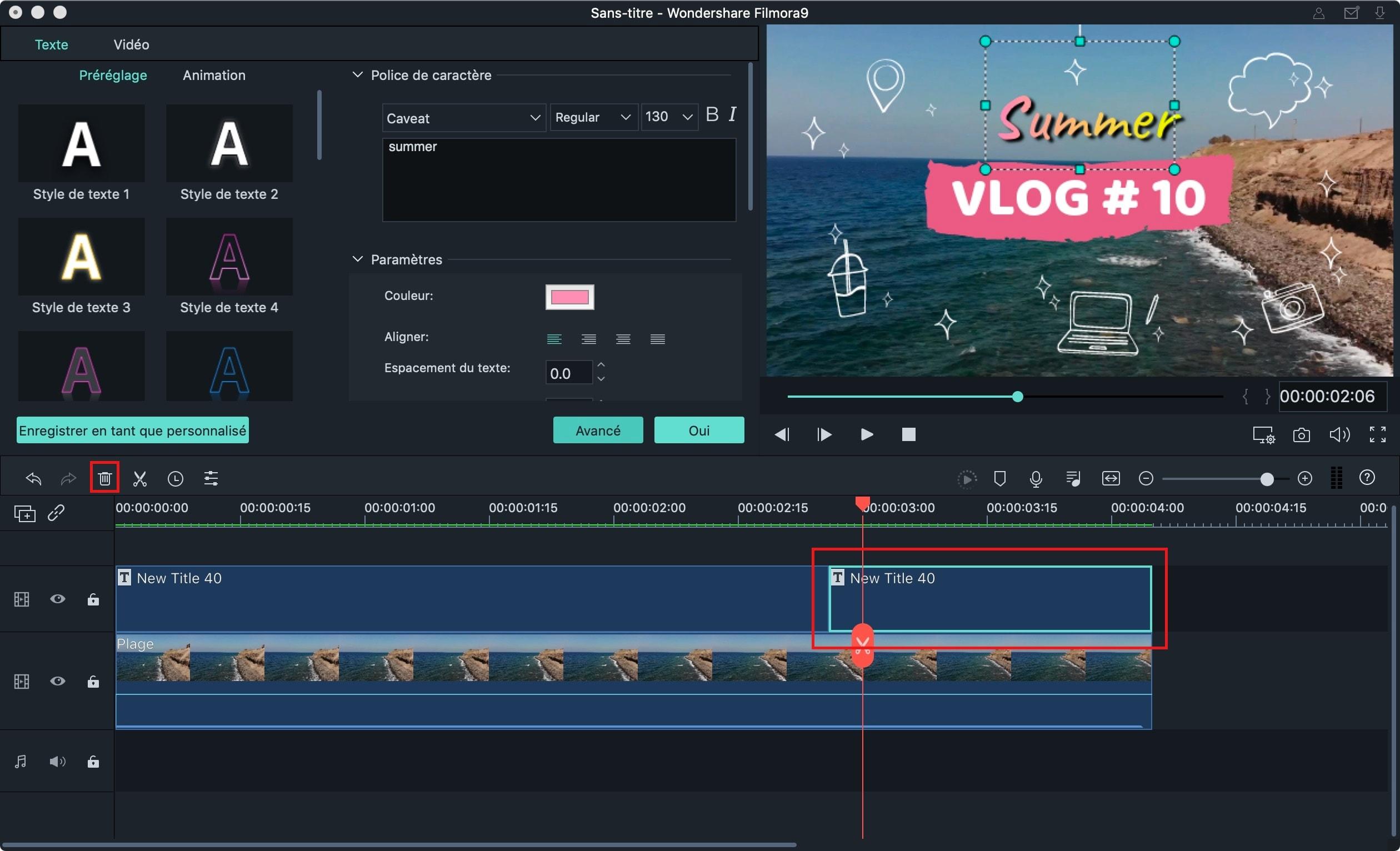 ajouter du texte dans une vidéo sur mac