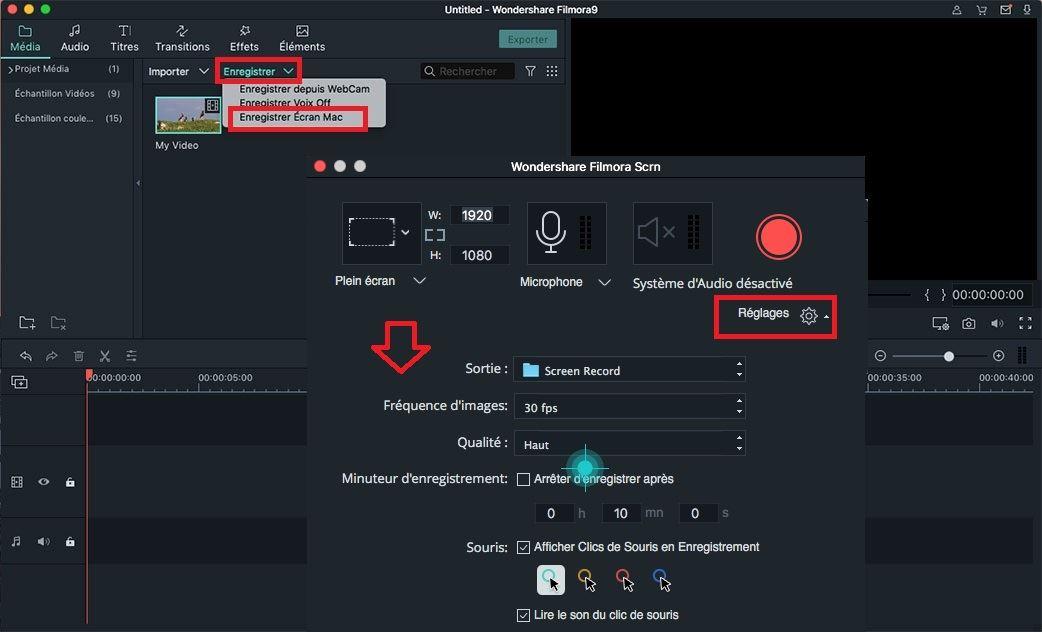 commencer à enregistrer une vidéo d'écran sur mac