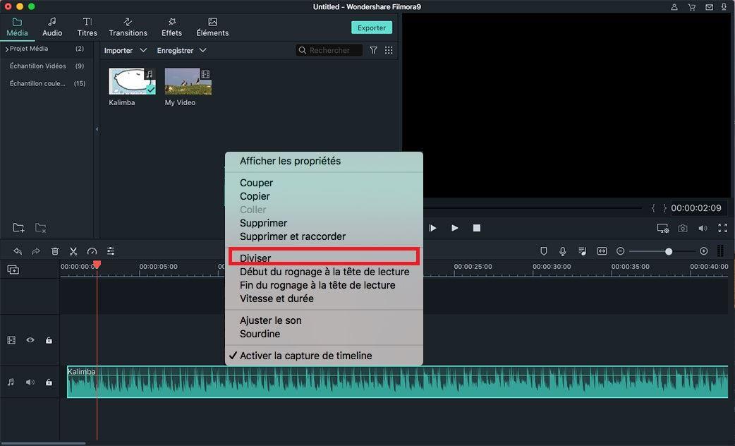 diviser un audio