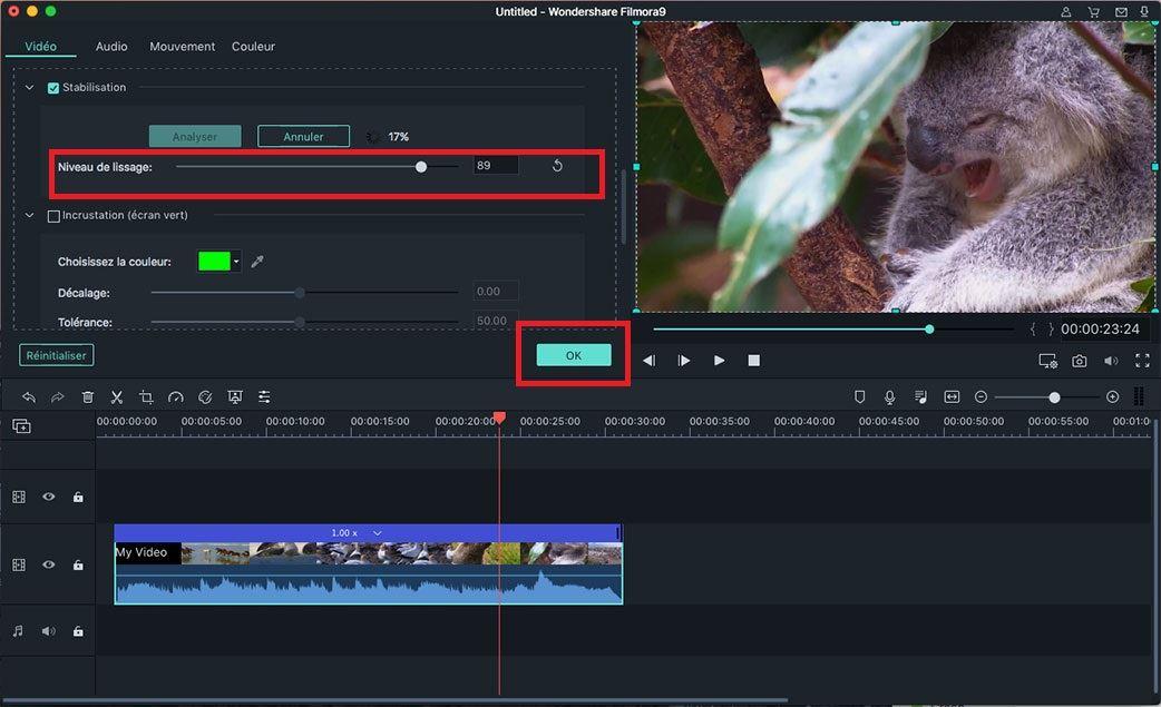 stabilisation vidéo