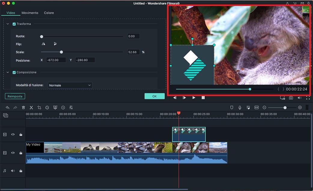 installare filmora 9 per mac