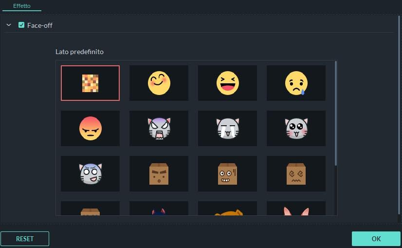 cambia icona faccia