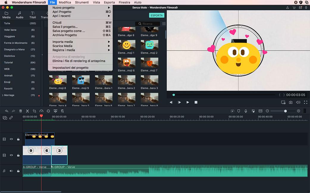 ruotare video nel Filmora Video Editor