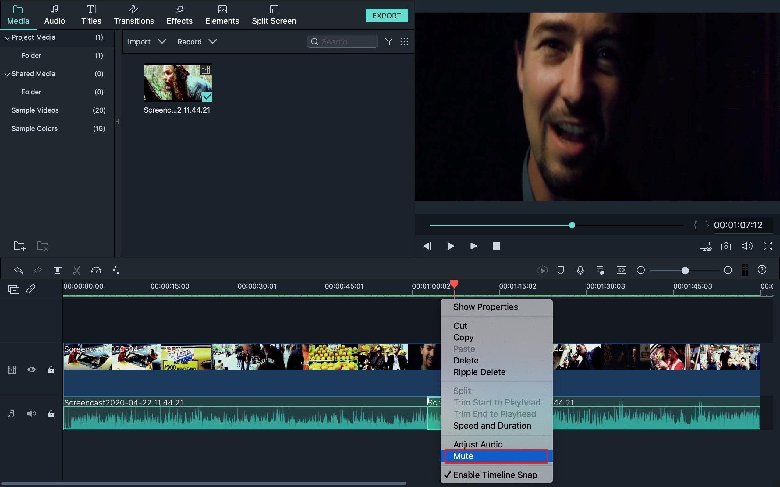 Comment cacher une parole (censurer des gros mots) dans iMovie