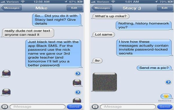 hide messages iphone