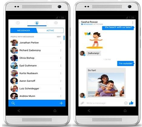 save facebook messenger android