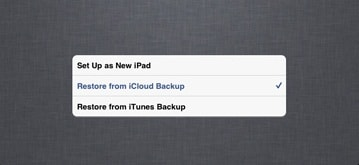 can you backup iphone to ipad