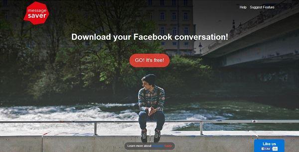save facebook messages