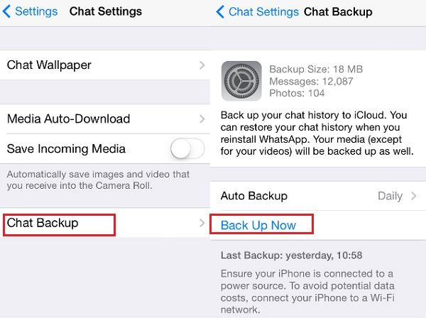 How to Back up WhatsApp Messages