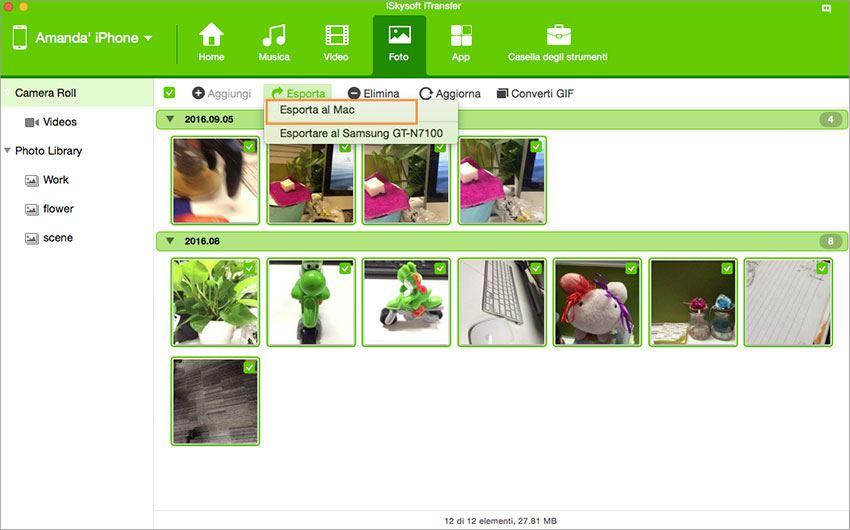 Come Trasferire le Foto dall'iPhone al Mac (Supportato l'iPhone 8)