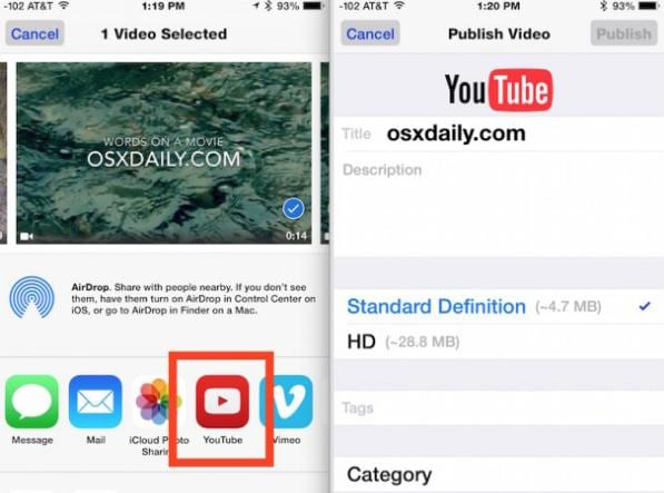 How to Upload Videos to YouTube from iPhone